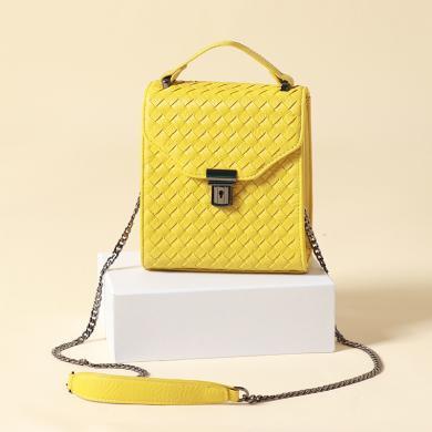 新款时尚编织链手机包单肩斜跨包B1062