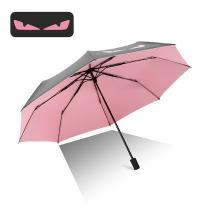 创意晴雨伞黑胶折叠小黑伞防紫外线遮阳伞太阳伞F1001