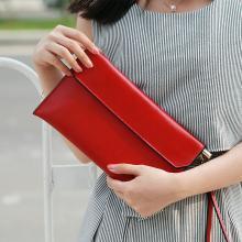 搭歌 秋季新款女包時尚手拿包牛皮多用鏈條包手抓單肩女包 qb058