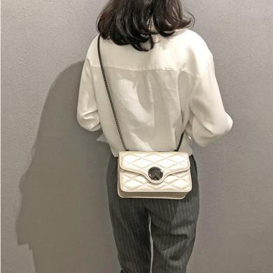 搭歌 2019春季新款韓版潮流女包單肩包時尚大方菱格斜挎包   JY921