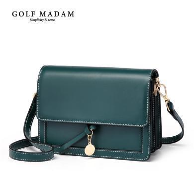 高尔夫/GOLF小包包女包新款真皮时尚单肩斜挎包潮韩版百搭风琴包 B941972