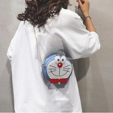 搭歌卡通小包包女包新款2019可愛少女鏈條單肩斜挎包網紅個性小圓包潮D259104