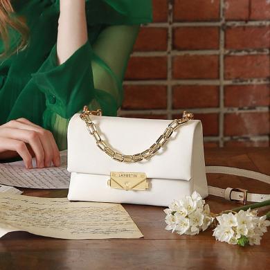 拉菲斯汀2019新款时尚单肩包百搭斜挎链条手提女包锁扣小方包