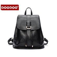DOODOO 新款双肩包韩版PU休闲简约百搭学院风小背包 6037