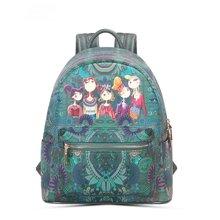 卡秀CUSHOW原创卡通摩登双肩包韩版潮流休闲背包女士书包旅行包