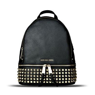 [支持購物卡]MK/邁克高仕 MK女包經典時尚款百搭女士雙肩包包女款 SR 中號 鉚釘