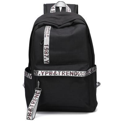 2019簡約款學生書包男女通用雙肩背包韓日風電腦包14英寸旅行背包校園初中高中學生書包1858