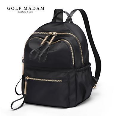 GOLF/高爾夫雙肩包女背包新款潮牛津布帆布女士旅行小包包女  B932952