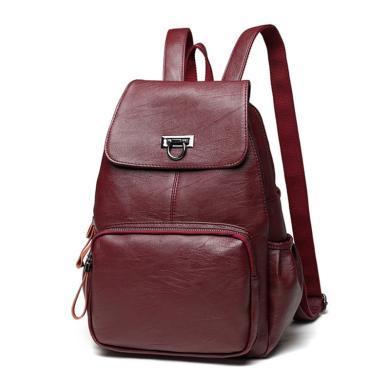 歌詩娜 新款時尚明星同款女士雙肩包百搭旅行背包學生背包 Q631