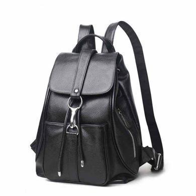 歌詩娜 新款時尚百搭真皮女士雙肩包春季踏青旅行背包 13006