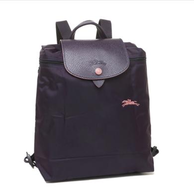 【支持购物卡】LONGCHAMP 珑骧 女士LE PLIAGE系列织物可折叠双肩包L1699619