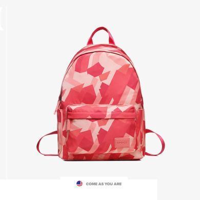 crocs超火的雙肩包女學生書包女韓版高中大容量ins風帆布旅游背包