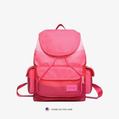 crocs包包女夏天小清新2019學生少女ifashion書包旅行時尚背包雙肩包