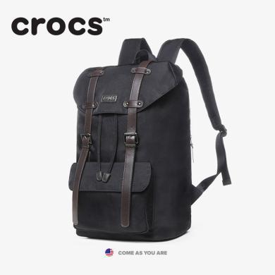 crocs雙肩包女男2019秋冬登山學院休閑書包大容量旅行背包潮
