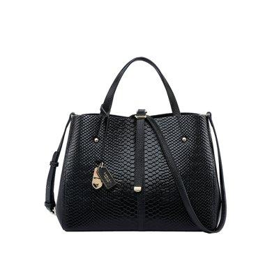 朱爾 女包新款手提包大容量單肩包包女時尚頭層牛皮女士包B200-T