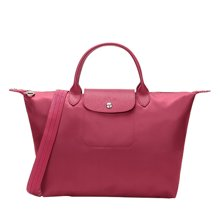 Longchamp 珑骧 枚红色尼龙女士手提包 1515578232(1)