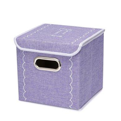 紐芝蘭 無紡布帶蓋收納箱家用防潮衣物整理箱雜物儲物箱包 110081