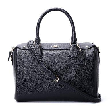 [支持購物卡]COACH/蔻馳女包 時尚潮流百搭純色經典女款包 女士包單肩手提斜挎包波士頓包 F57521
