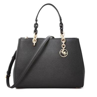 [支持購物卡]MK/邁克高仕 MK女包CYNTHIA百搭女款包包純色經典手拎單肩斜挎包手拎包 中號