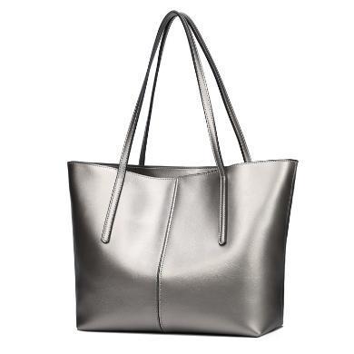 歌詩娜 2019新款牛皮女包真皮大包歐美時尚百搭簡約購物袋大容量手提包包W6938