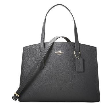 [支持購物卡]COACH/蔻馳  女包粒面皮革手拎斜挎包  25137