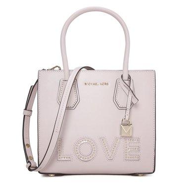 [支持購物卡]MK/邁克高仕 MK女包禮物女款包MERCER百搭斜挎手提包LOVE鉚釘款