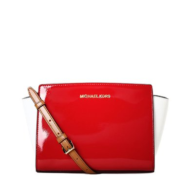 [支持購物卡]MK/邁克高仕 MK女包禮物女款包百搭休閑經典純色 斜挎手提包 斜挎包 中號