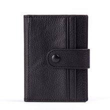 丹爵(DANJUE)头层牛皮男女款多卡位卡包休闲时尚卡包简约搭扣二折卡包零钱包D6980