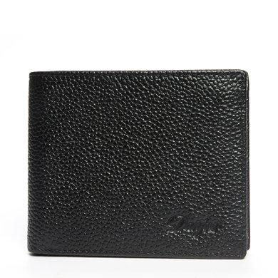 丹爵頭層牛皮簡約設計2折男士錢包短款錢夾禮盒裝 2折錢包