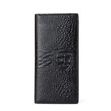 丹爵(DANJUE)頭層牛皮鱷魚紋男士長款錢包時尚百搭錢夾輕薄有型錢包禮盒裝D6023-1