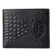 丹爵(DANJUE)时尚百搭男士鳄鱼纹钱包头层牛皮短款钱夹大方轻薄礼盒装D6023-2-3