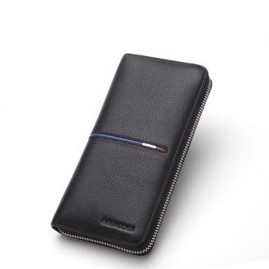 美洲野牛錢包男長款男士拉鏈錢包手機包多卡位青年錢夾卡包潮N8150-1B