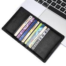 GSQ古思奇卡包 多功能时尚牛皮证件包 名片夹 大容量多卡位零钱包Q952黑色