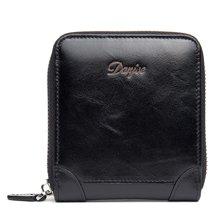 丹爵(DANJUE)新款头层牛皮时尚简约收纳钱包轻巧便携男士卡包休闲百搭钱夹 D6029