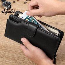 澳洲袋鼠正品男士錢包長款頭層牛皮手機包手拿包