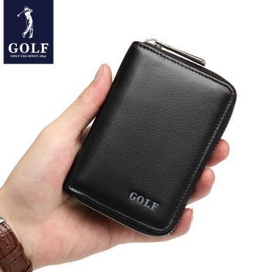 高尔夫GOLF头层牛皮13卡位卡包简约风琴式卡包柔软耐磨小巧大容量  Q7GF62981F