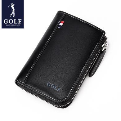 GOLF/高爾夫多卡位風琴卡包男士真皮大容量卡片包女式信用卡套 Q861811