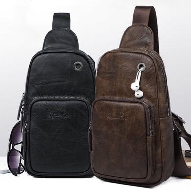 澳洲袋鼠正品男士背包頭層牛皮胸包休閑包旅行包