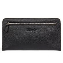 丹爵(DANJUE)新款男包商務休閑手拿包頭層牛皮男士手包時尚薄款錢包卡包 D8096