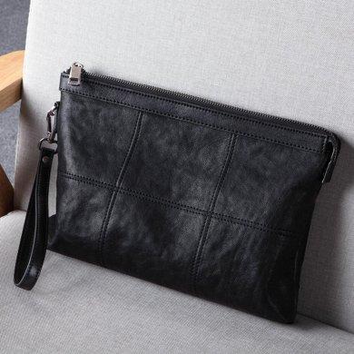 斐格男包牛皮手抓包手拿包韓版時尚大容量手包6016