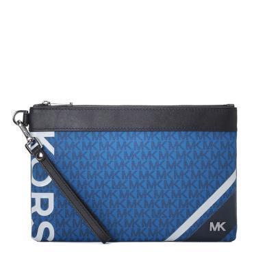 [支持購物卡]MK/邁克·科爾斯 Jet Set Mens 手腕包 印花LOGO款