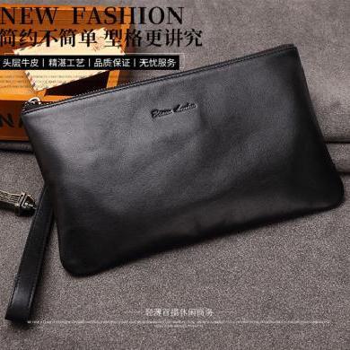 男士手包信封包時尚男包手拿包大容量軟皮小牛皮手抓包夾包潮N8098
