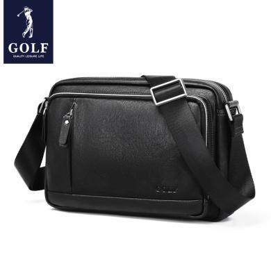GOLF/高爾夫單肩包男士斜挎包休閑男士包包背包小包韓版潮郵差包 D942957