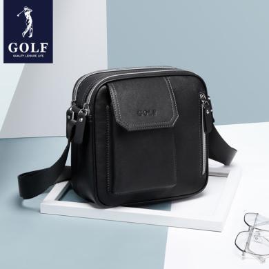 GOLF/高爾夫男士皮包單肩包韓版休閑男包商務斜挎包小包背包 D942956