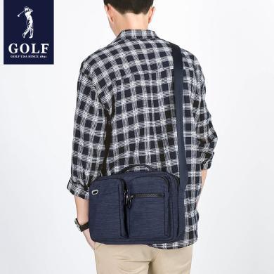GOLF/高爾夫男包單肩包休閑男士包包韓版多功能手提大斜挎包 D8GF41911F