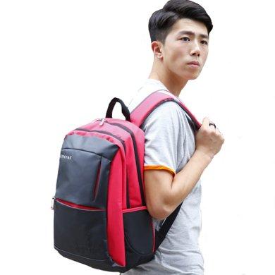 天逸新款男女背包休閑背包雙肩電腦背包韓版背包學生背包書包男士旅行背包T122