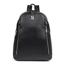 丹爵新款韩版时尚牛皮男士双肩包电脑包大容量旅行包男包D8877
