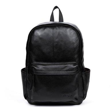 丹爵新款頭層牛皮男士雙肩包時尚男包時尚旅行背包D8077