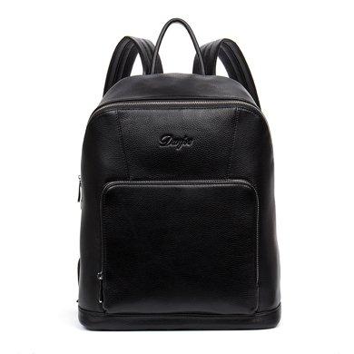 丹爵新款時尚休閑牛皮男士雙肩包電腦背包旅行背包休閑男包8875-1