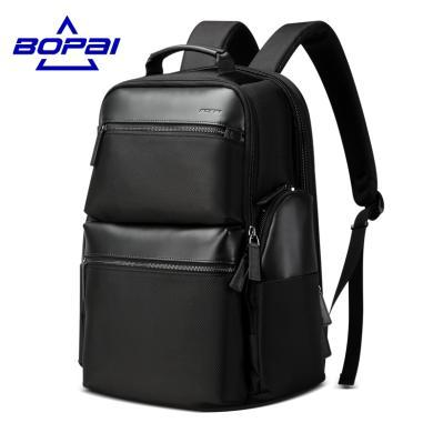 BOPAI博牌 商務雙肩包男充電防盜大容量電腦包出差休閑旅行背包男851-020211